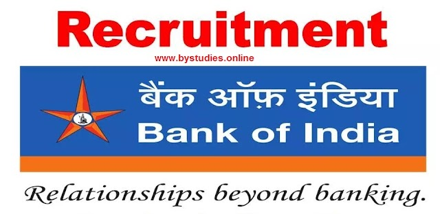 Recruitment in bank of india As Security Officer, Fire Officer