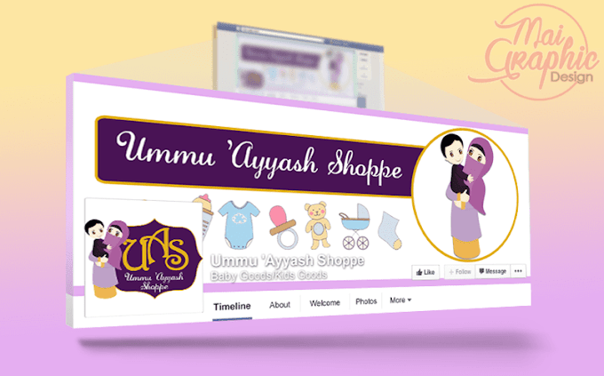 Design Facebook Cover Photo Ummu 'Ayyash Shoppe
