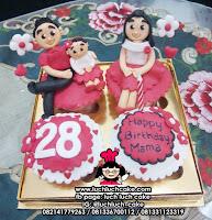 Cupcake Anniversary Romantis Tema Keluarga