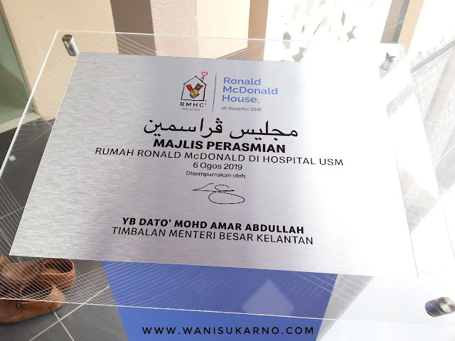 Perasmian Rumah Ronald McDonald Di Hospital USM Sedia Menerima Ahli Keluarga Pesakit Kanak - Kanak Pediatrik