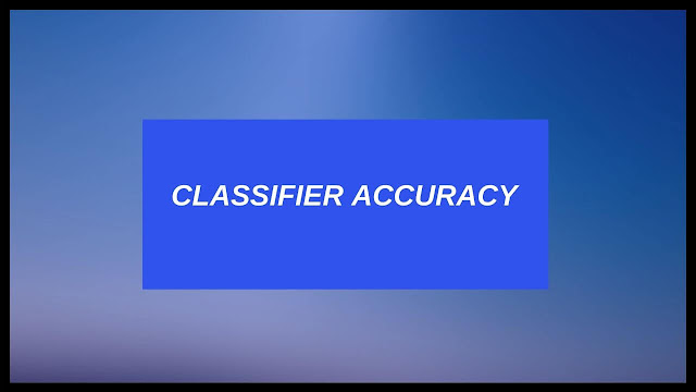 accuracy of classifer