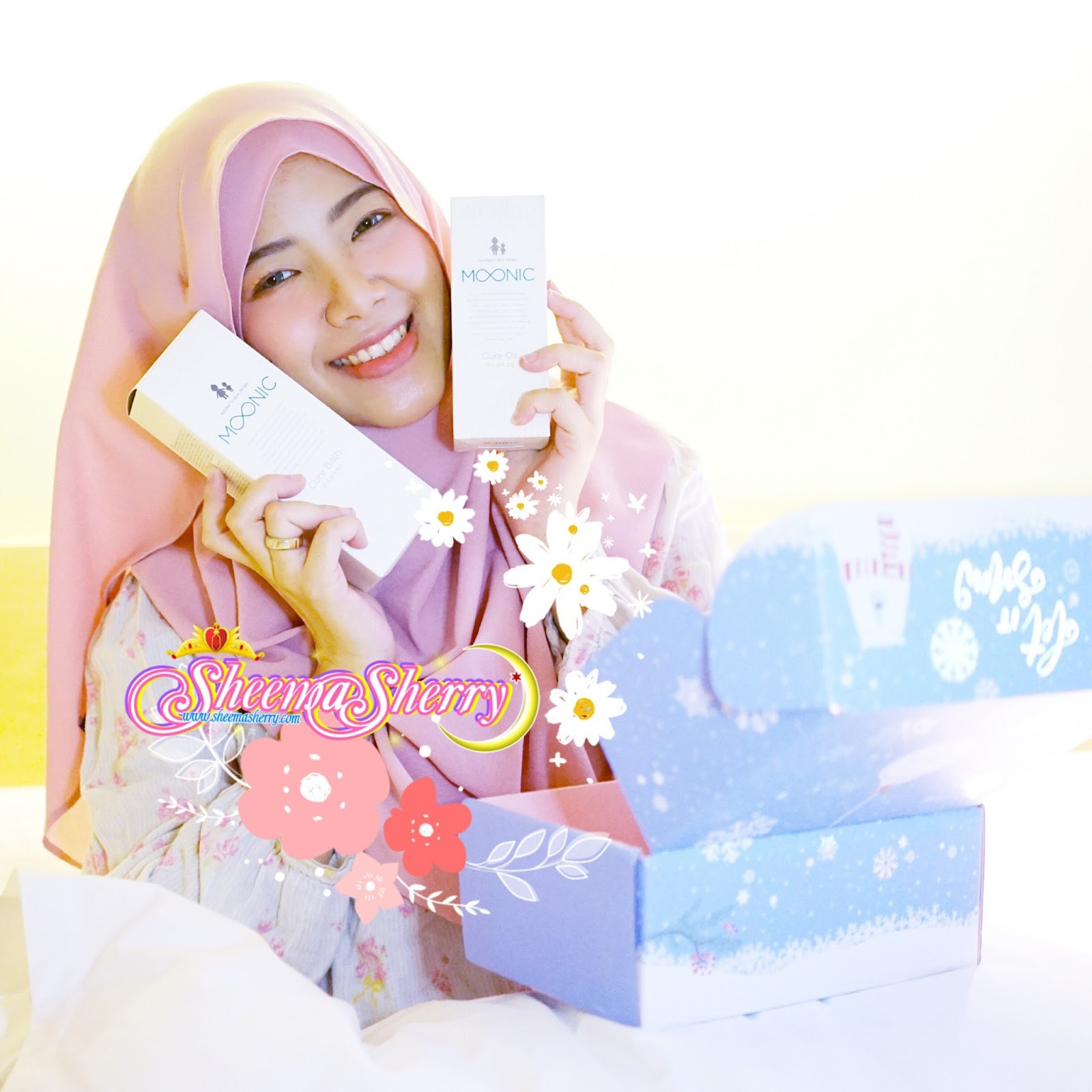 Baby Care Products from Korea? It's MOONIC! (Sponsored by Althea Korea) Sheema Sherry Kawaii Hijabi Baby Gear Beauty Blogger Muslim Moonic Cure Bath Cure Oil