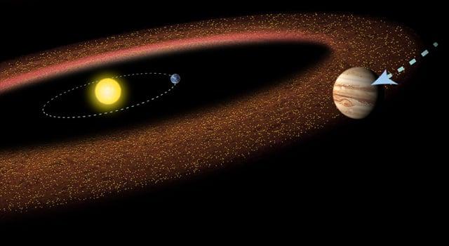 Jupiter and the asteroid belt