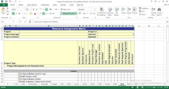 Resource Assignment Matrix Template