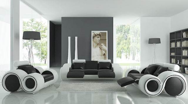 WONDERFULL BLACK AND WHITE INTERIOR DESIGNS