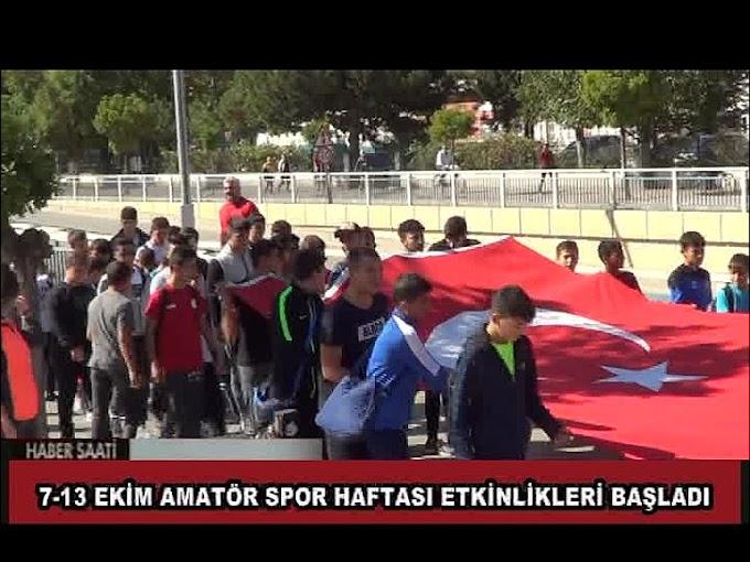 Amatör Spor Haftası etkinlikleri açılışı nedeniyle ilçemizde kortej yürüyüşü düzenlendi