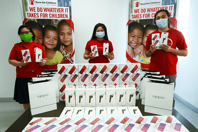 OPPO PH donates brand new phones and more to Save the Children