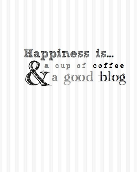 Free Printable Happiness is coffee and a good blog