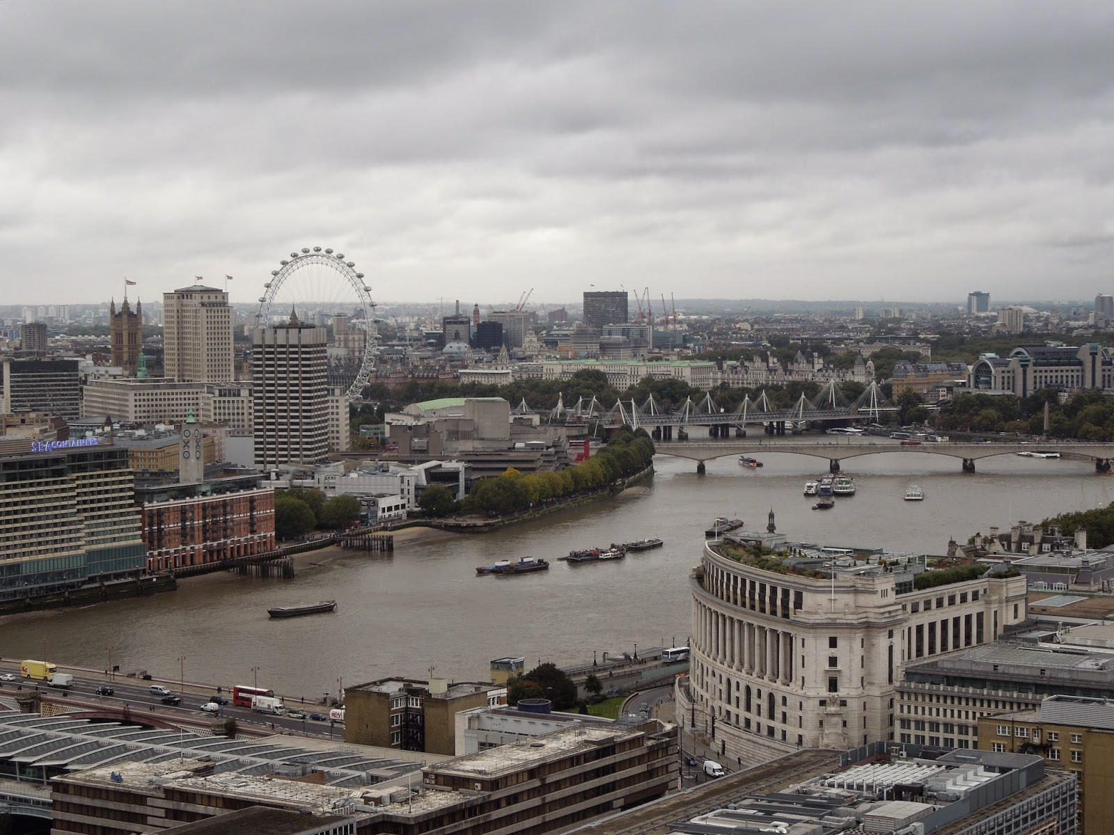 view of London from St Paul's Cathedral