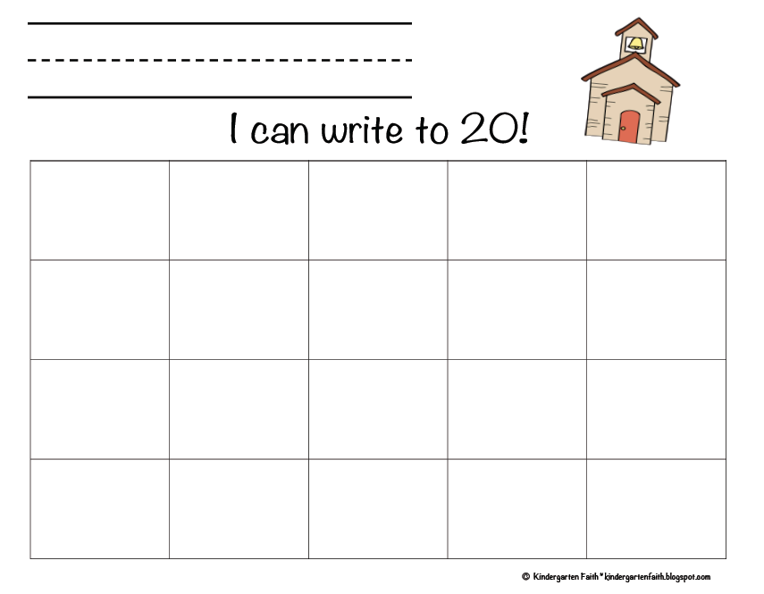 Kindergarten Faith: I Can Write My Numbers