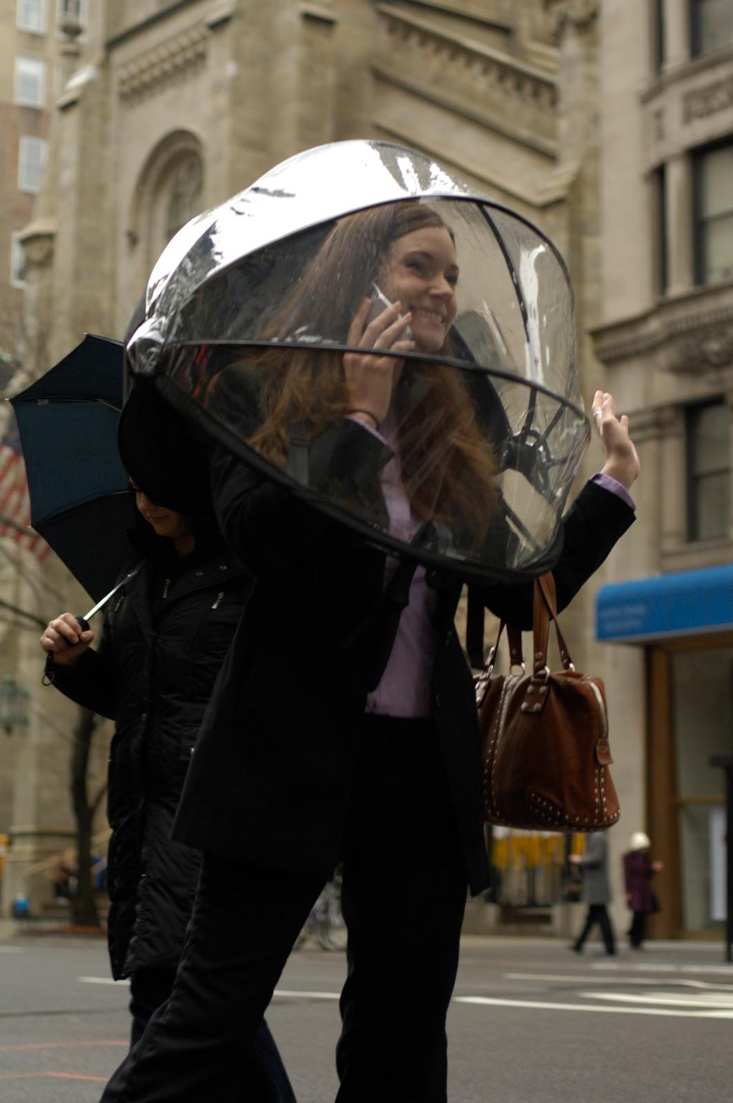 Bag of pretty: Nubrella - hands free umbrella