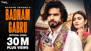 Badnam Gabru Mp3 Song Download Masoom Sharma