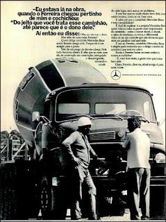 propaganda caminhão Mercedes-Benz - 1974, Mercedes-Benz do Brasil anos 70, Mercedes-benz década de 70, caminhão mercedes, Oswaldo Hernandez,