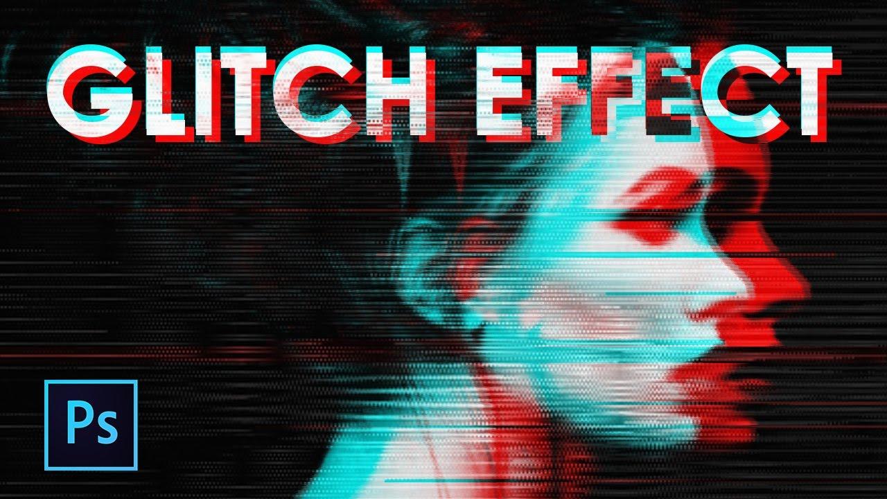 Cara Membuat Efek Glitch  Keren Photoshop Nyolong Sandal