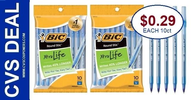 Bic Pens Cheap at CVS this Week 2-21-2-27