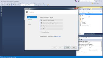 vs4 - Cara Upload Website ke Microsoft Azure melalui Visual Studio 2015