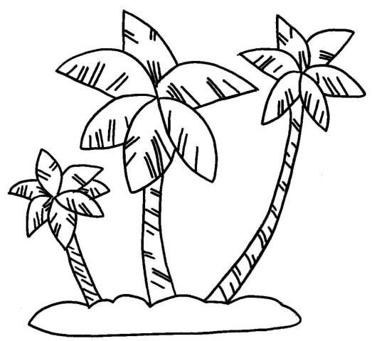 Hawaii Palm Trees Drawing - Tattos For Men  Hawaiian Palm Tree Drawings