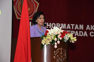 Ibu Kehormatan Taruna Akademi TNI Beri Pembekalan kepada 420 Capaja TNI