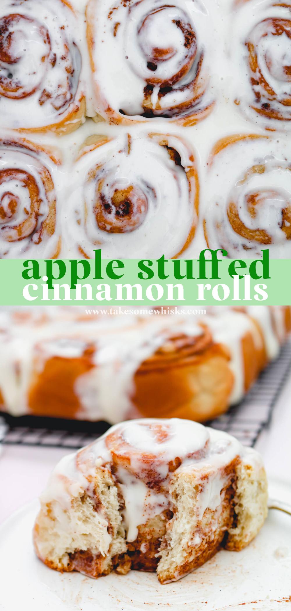 Apple Stuffed Cinnamon Rolls | Take Some Whisks