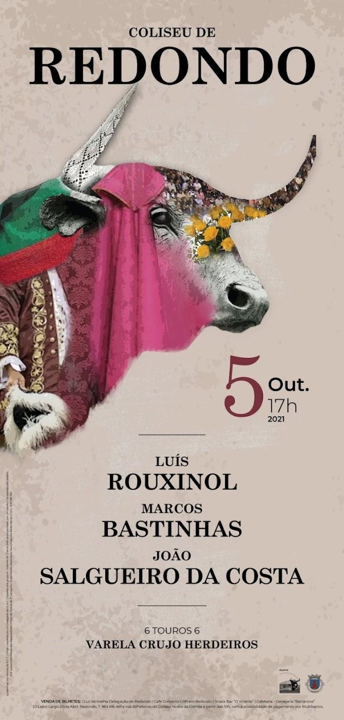 Rouxinol, Marcos e Salgueiro da Costa a 5 de Outubro no Coliseu de Redondo