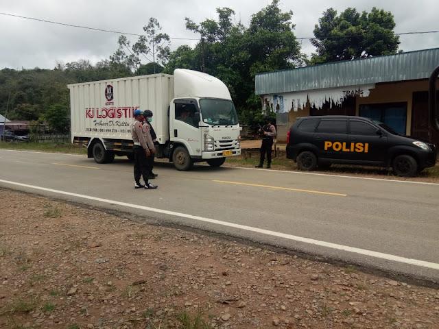 Larangan Mudik, Polres Lamandau Jaga Pos Perbatasan Kalteng-Kalbar