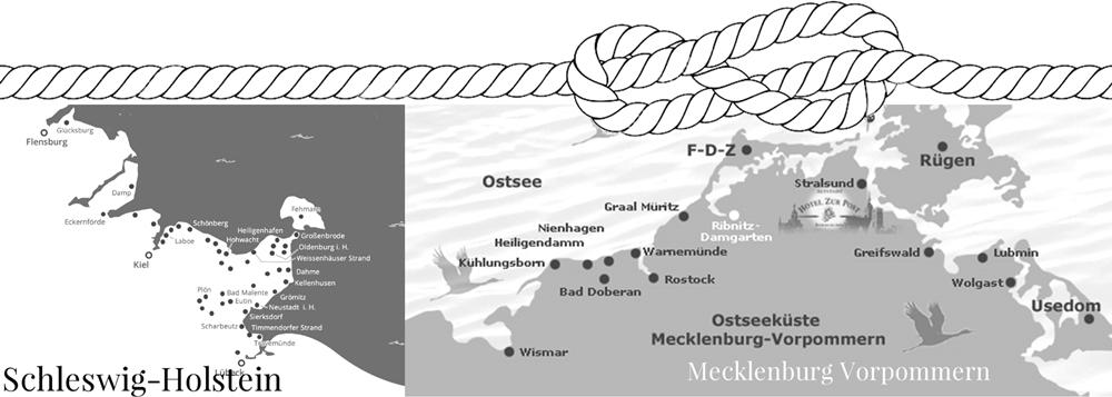 Baltic Sea coast in Germany, Schleswig-Holstein and Mecklenburg-Vorpommern