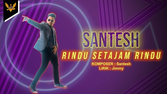 Lirik Lagu Rindu Setajam Rindu - Santesh