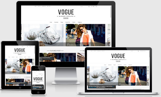 Vogue 2016 Responsive Blogger Templates