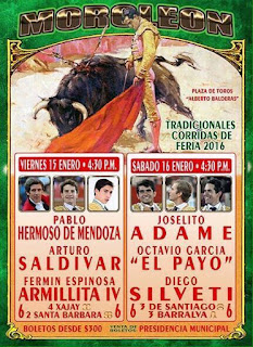 corridas de toros feria moroleón 2016