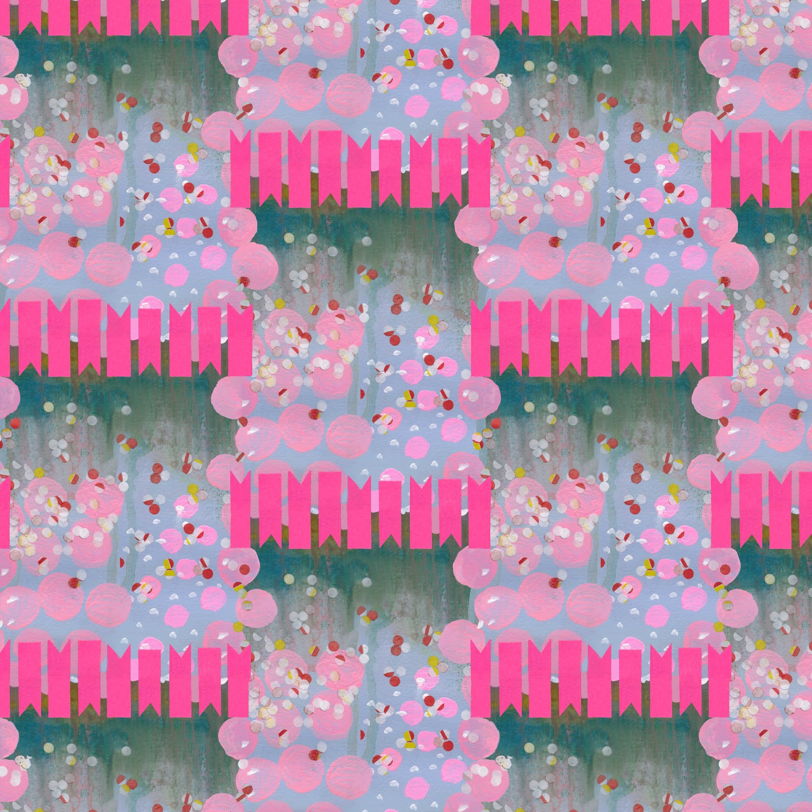 Deigning April Louise Sharman Abstract Half Drop Repeats