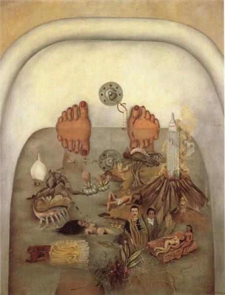 O que eu Vi na Água ou o que a Água me Deu - Frida Kahlo e suas pinturas ~ Pintora comunista e revolucionária