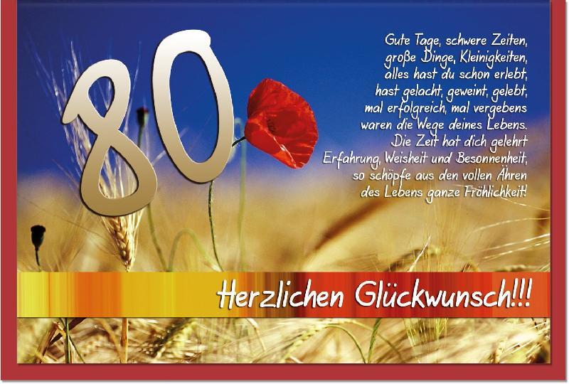 Gedicht Zum 80 Geburtstag