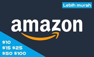 Jual Amazon Gift Cards USD 10, 15, 25, 50, 100 atau $10, $15, $25, $50, $100