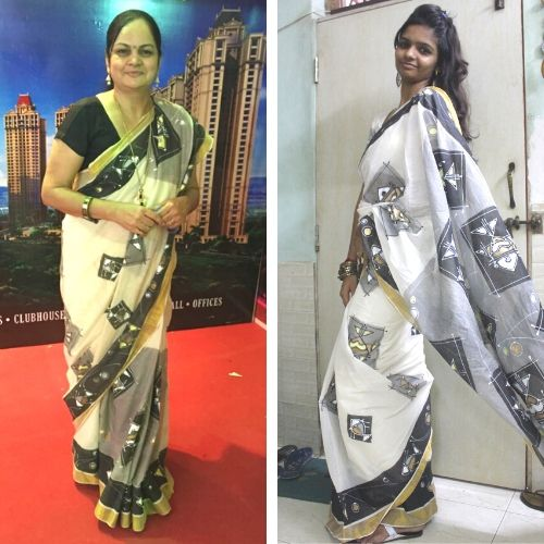 Casual Abstractions, Mothers Day, Saree, Fashion, OOTD