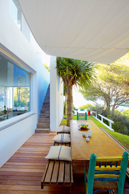 A contemporary summer house in Costa Brava, Spain, via Marie Claire Maison. #terrace