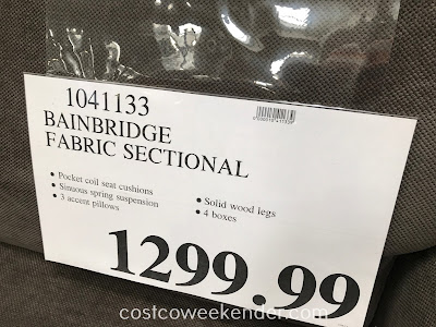 Deal for the Bainbridge Fabric Sectional with Ottoman at Costco