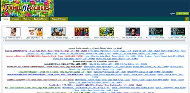 Tamilrockers 2020 - Download Tamil,Telugu,Malayalam,Hindi and English Movie