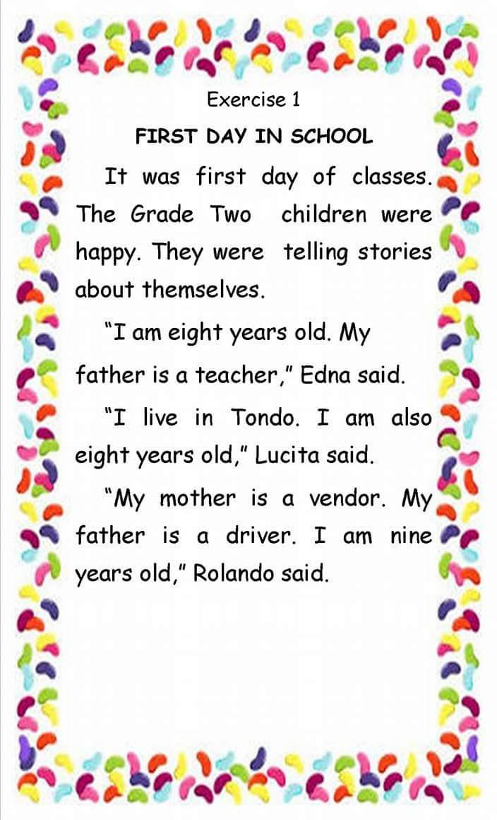 Teacher Fun Files English Reading Passages 17