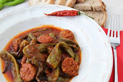 Salsiccia e peperoni friggitelli