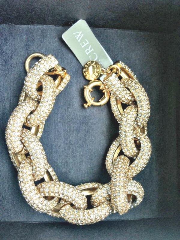 J. Crew Pave Link Bracelet