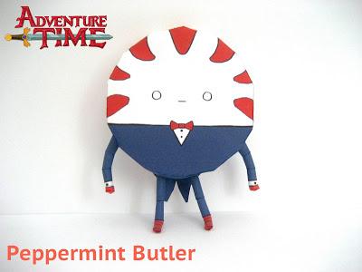 Adventure Time – Peppermint Butler Papercraft