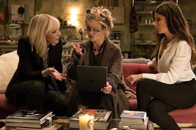 Ocean's 8 Helena Bonham Carter, Sandra Bullock and Cate Blanchett