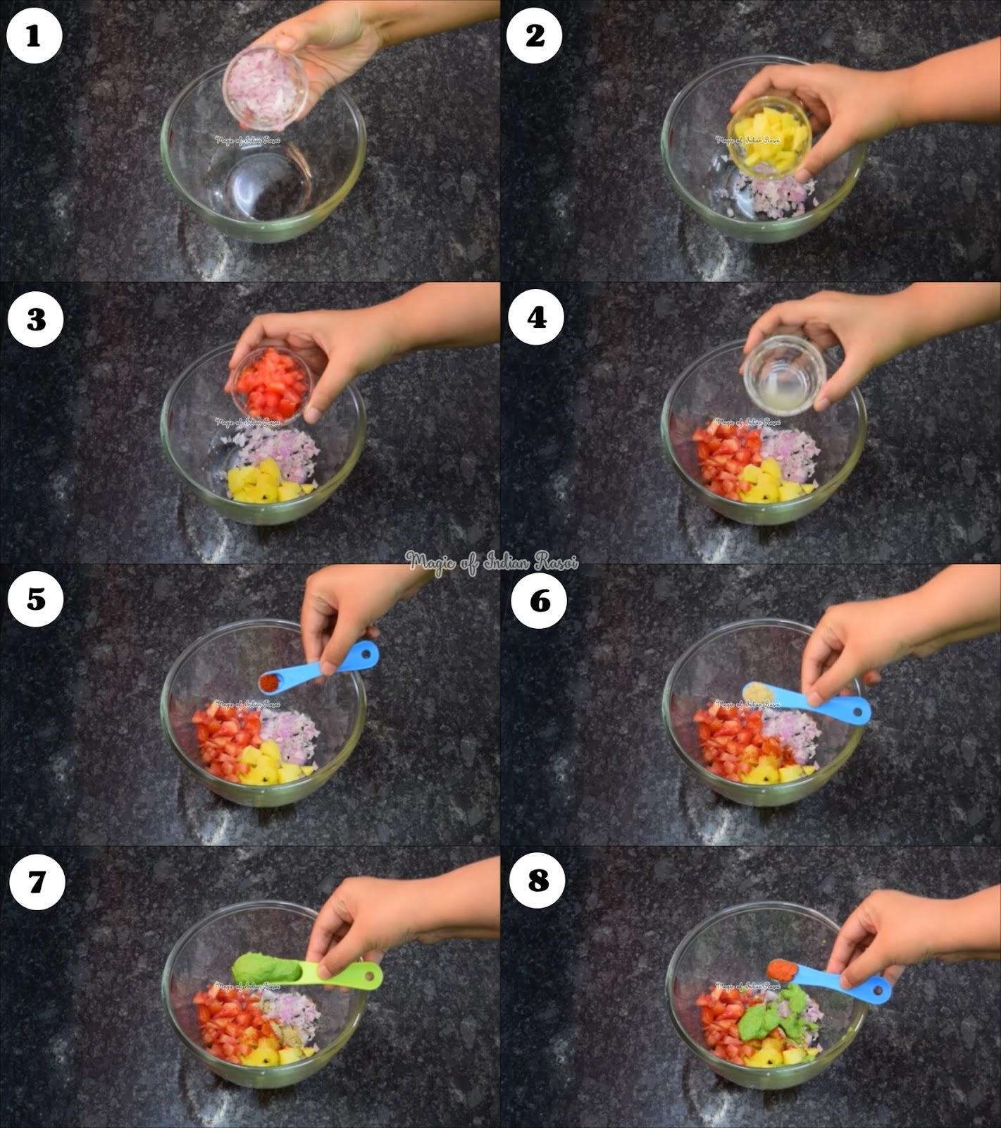 Bhel Puri (Mumbai Style) Recipe - Murmura Bhel - भेलपुरी (मुंबई स्टाइल) रेसिपी - मुरमुरा भेल - Priya R - Magic of Indian Rasoi