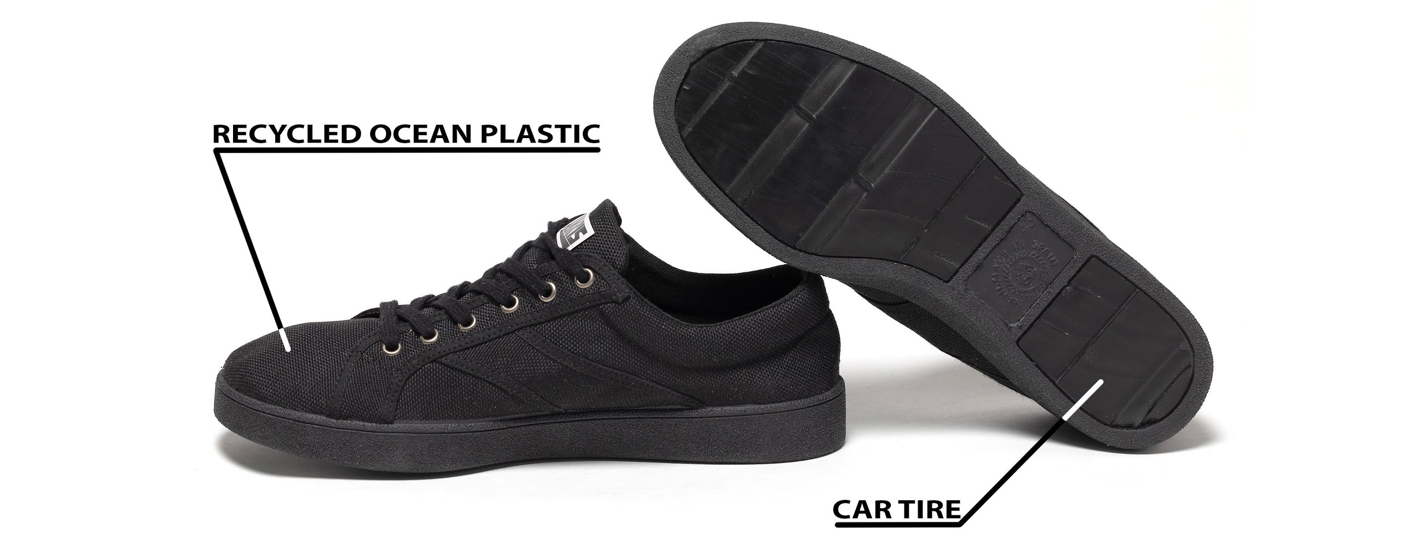 Eco-friendly sustainale sneakers for skaters