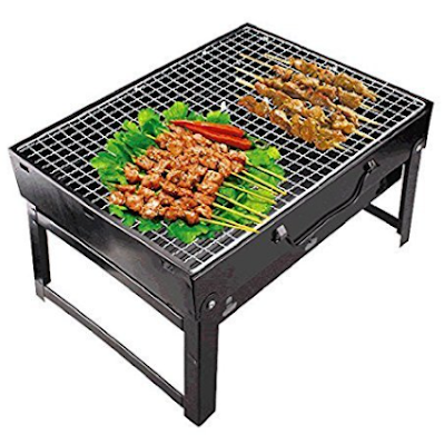 Sajani Folding Portable Outdoor Barbeque Charcoal BBQ Grill