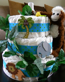 Jungle Diaper Cake, Over The Apple Tree