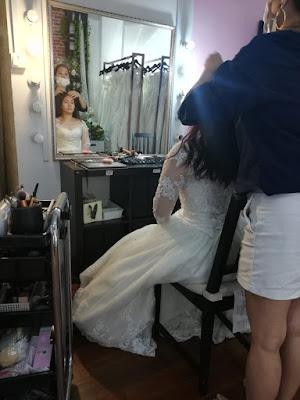 bridal make up process