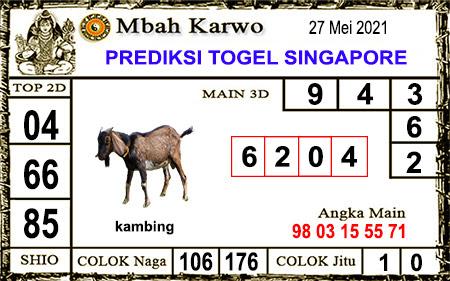 Prediksi Jitu Mbah Karwo SGP45 kamis 27-05-2021