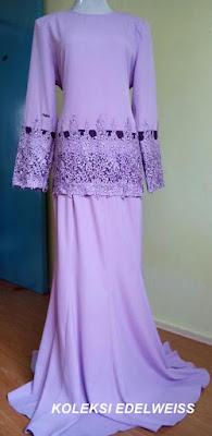 Mini Kurung Moden Lace Purple