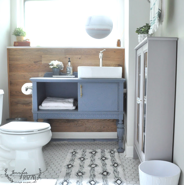Furniture as bathroom vanity